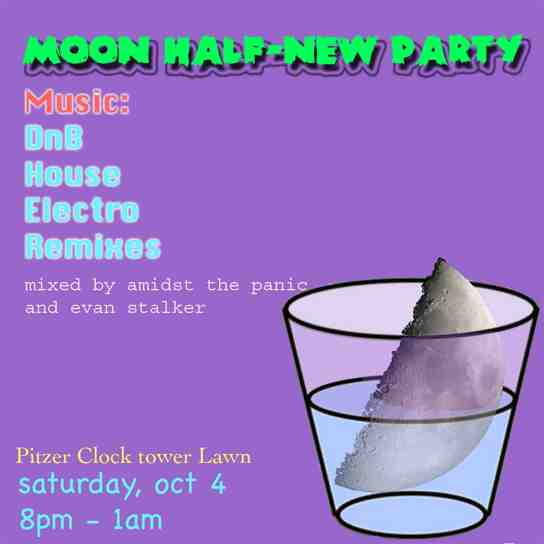 Moon Half New Party Poster
